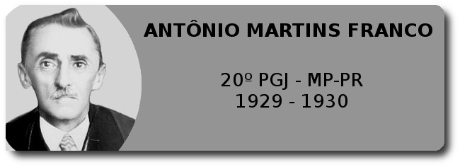 Antônio Martins Franco - 20º