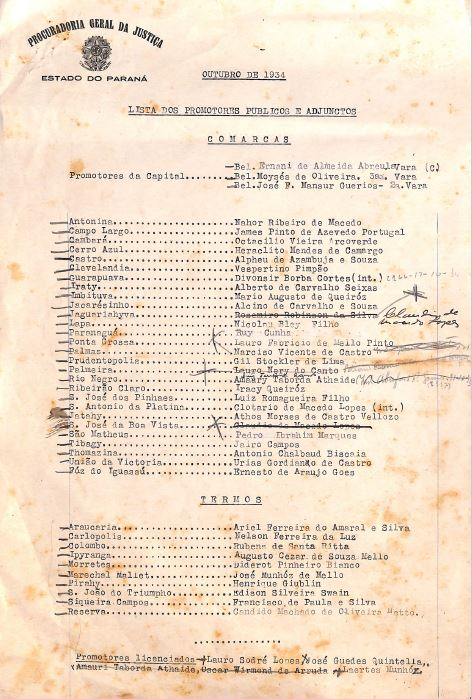 História do Ministério Público do Paraná